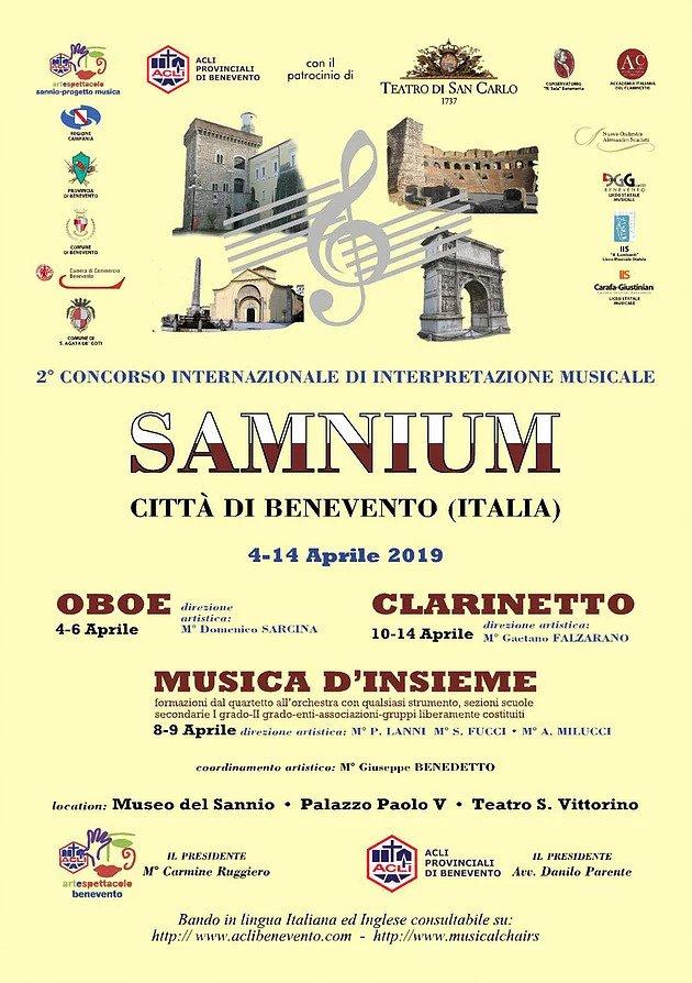 """II edizione del Concorso Internazionale di Musica """"Samnium"""""""