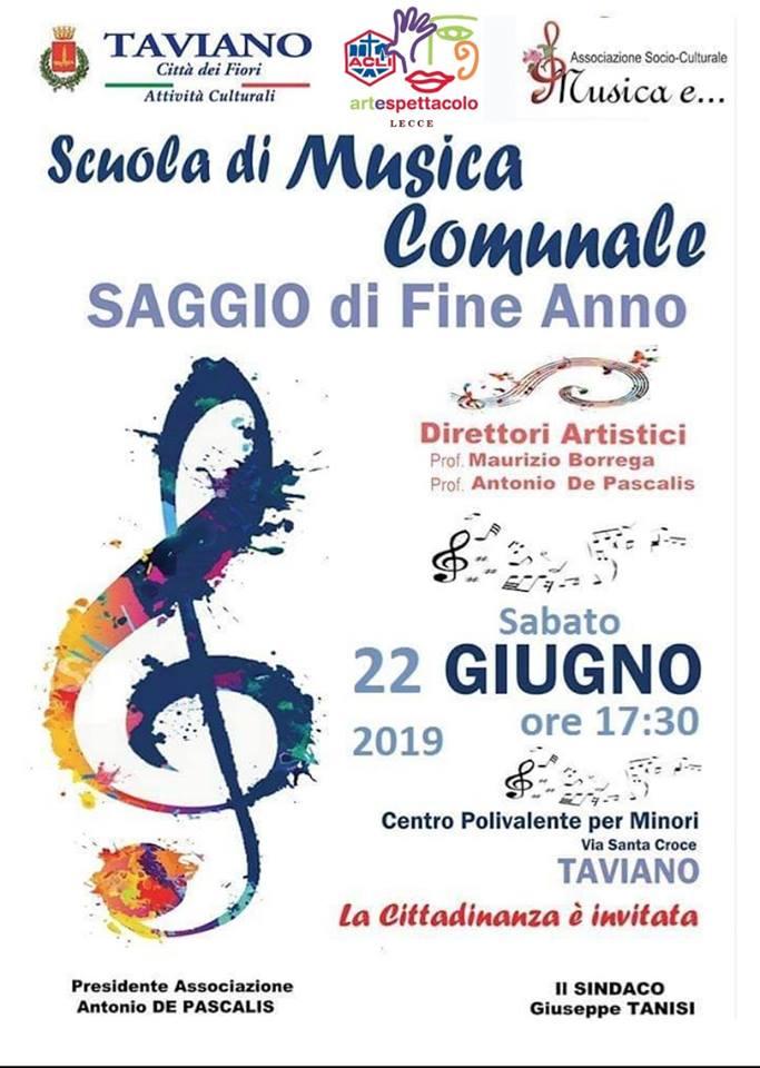 TAVIANO  Saggio di Fine Anno – Scuola di Musica Comunale