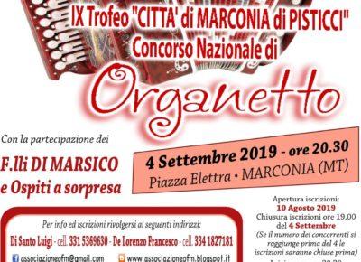 """IX Trofeo """"Città di Marconia di Pisticci"""" Concorso Nazionale di Organetto"""